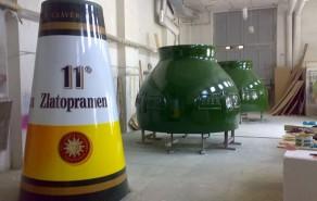 Výroba pivní lahve ZLATOPRAMEN